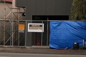 Hastings Street, Napier where human remains were found during the building process. Photo / Warren Buckland