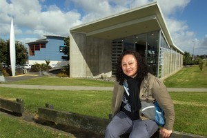 Victoria Schmidt outside the Clendon Community Centre. Photo / Brett Phibbs