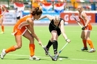 Netherlands advance to the semifinals after beating the Black Sticks 3-0. Photo / Vanesa Krezic