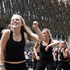 Gym members perform during the Wellington Sevens parade. Photo / Mark Mitchell