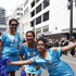 Fijian cheerleaders in action during the Wellington Sevens parade. Photo / Mark Mitchell