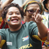 South Africa supporters are seen during the Wellington Sevens parade. Photo / Mark Mitchell