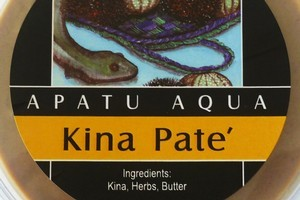 Less is more with the kina pate simply made of kina, herbs and butter. Photo / Supplied