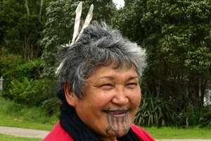 Maata Wharehoka has a family connection with Parihaka dating back to the time of the 1881 invasion. Photo / Pamela Wade