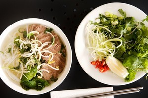 The beef pho on the menu at Hanoi Village is a highlight. Photo / Babiche Martens