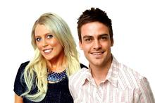 Mel Greig and Michael Christian of Australian radio station 2Day FM, with Jacintha Saldanha, right. Photo / Supplied