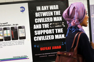 "The #MyJihad campaign was sparked by a series of hateful ads calling Muslims ""savages"" and urging people to ""defeat jihad"". Photo / Getty Images"