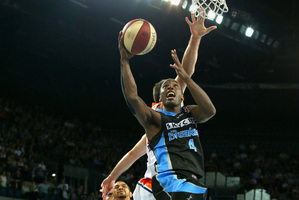 Cedric Jackson of the Breakers shoots during the round 11 NBL match between the New Zealand Breakers and the Cairns Taipans at Vector Arena. Photo / Getty Images