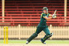 Meg Lanning of Australia bats during game two of the women's One Day International series between the Australian Southern Stars and New Zealand at North Sydney Oval. Photo / Getty Images