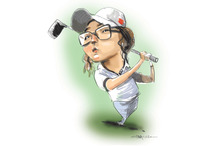 Her 2012 season was so spectacular that eventual golf superstardom and riches almost seem a formality. Illustration / Rod Emmerson