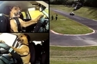 A pair of highly trained canines guide a modified car along a New Zealand race track, passing their doggie driving tests with flying collars on live television, despite the odd off-road detour.