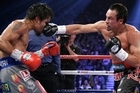 Mexico's Juan Manuel Marquez knocked Manny Pacquiao out cold with a vicious right hand at the end of the sixth round. Video - Sky Sports - Youtube / Oldervsyounger