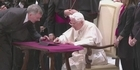 Watch:  Pope blesses Internet flock with first Twitter message 