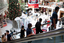 Christmas shopping has started early at Westfield St Lukes in Auckland. Photo / Natalie Slade
