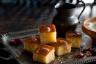 Semolina cake from The Complete Middle Eastern Cookbook by Tess Mallos. Photo / Alan Benson