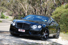 The more aggressive-looking Bentley Continental V8 proved its mettle on a tricky test drive. Photo / Jacqui Madelin