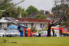 Wallingford Way in Hobsonville after the tornado struck. Photo / Michael Craig