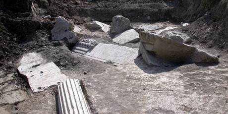 The tomb of Marcus Nonius Macrinus is by the River Tiber and the ancient Via Flaminia north of Rome. Photo / Supplied