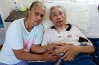 Lutimila Ma'afu with sick husband Semisi Ma'afu Samiu. Photo / Doug Sherring