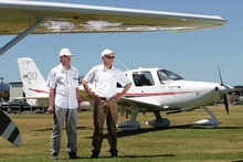 Jack Shelty and Lance Weller of Angel Flight. Photo / APN