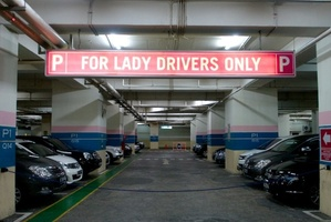Dedicated parking space for the ladies. Photo / Supplied