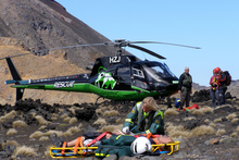 Mahe Drysdale stayed with the hurt man until medics landed. Photo / Steven McNicholl, Greenlea Rescue Helicopter