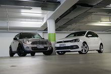 Of the Mini Cooper Baker Street and VW's Polo R-Line, one can be described as na