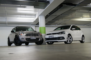 Of the Mini Cooper Baker Street and VW's Polo R-Line, one can be described as naughty, the other as nice. Both are outstanding rides. Pictures/David Linklater