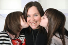 Anna Rennie with daughters Phoebe (left) and Mia. Photo / Supplied