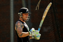 Brendon McCullum's tattoos refer to, among other things, his playing number (42) and his children's birthdates. Photo / Getty Images