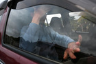 David Bain arrives at his girlfriend's Christchurch home yesterday. Photo / Martin Hunter