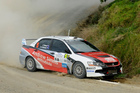 Shane van Gisbergen has quit the V8 Supercars, but has made an impression at the wheel of a rally car. Photo / Geoff Ridder