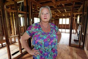 Kim Gouk had to strip her house.  Photo / Doug Sherring