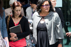 NZ Maori Council spokeswoman Rahui Katene, left, and lawyer Donna Hall at the Hight Court in Wellington. Photo / File / Mark Mitchell