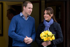Prince William with his wife Kate. Photo / AP