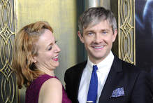 Actor Martin Freeman and girlfriend Amanda Abbington at the premiere of The Hobbit in New York. Photo / AP