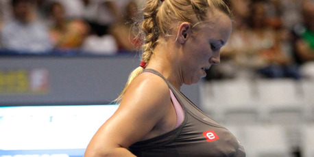 Caroline Wozniacki caused a stir when she impersonated fellow tennis star Serena Williams at a recent exhibition match against Maria Sharapova. Photo / AP