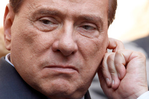 Silvio Berlusconi is trying to mend ties with the Northern League. Photo / AP