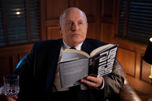 Sir Anthony Hopkins donned a fat suit to play Alfred Hitchcock. Photo / AP