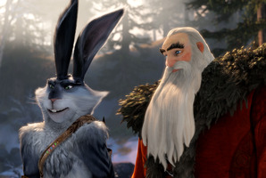 Alec Baldwin's character in Rise of the Guardians, North (right) is a complicated, competitive Santa Claus. Photo / AP