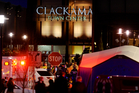 Police and medics work the scene of a multiple shooting at Clackamas Town Center Mall in Portland, Oregon. Photo / AP