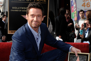 Actor Hugh Jackman poses at his star ceremony at the Hollywood Walk of Fame in Los Angeles. Photo / AP