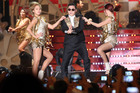 South Korean rapper PSY, center, who was 6th most googled by New Zealanders. Photo / AP