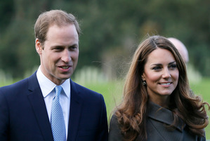 Prince William is expected to stay with his wife Catherine until at least the end of the week. Photo / AP