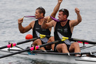 Double scullers Nathan Cohen (left) and Joseph Sullivan won the first of New Zealand's three rowing gold medals at the London Olympics. Photo / Mark Mitchell