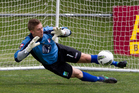 Waitakere United's goalkeeper Danny Robinson. Photo / Brett Phibbs