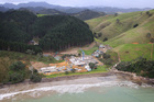 Alexander Abramov's New Zealand mansion at Helena Bay, Bay of Islands is taking shape in March 2012. Photo / Greg Bowker