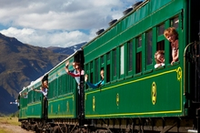 The Kingston Flyer runs now on a 14km stretch of track south of Queenstown. Photo / Supplied