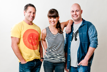 Marc Ellis , Amber Peebles and Stu Tolan , hosts of More FM's Breakfast show where Ellis currently works. Photo / Supplied