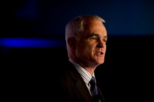 Simon Moutter, the chief executive of Telecom, says the flat rate would be easier for customers to understand.. Photo / NZ Herald